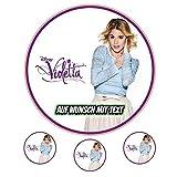 Tortenaufleger Geburtstag Tortenbild Zuckerbild Oblate Motiv: Disney Violetta 02 (Oblatenpapier)