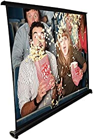 Pyle Portable Projector Screen - Mobile Projection Screen Stand, Lightweight Carry & Durable Easy Pull Out