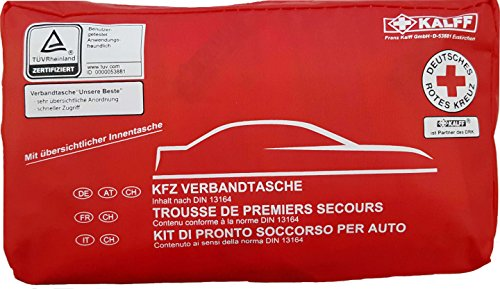 Quattroerre 16056 Kit di Pronto Soccorso per Auto Omologato DIN 13164