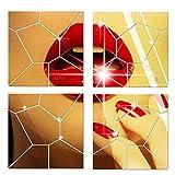 ZouLong DIY Punkt Acryl Spiegeleffekt Aufkleber Wandaufkleber Spiegelfläche Wandaufkleber Dekoration
