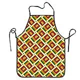 Funny DIY Kochschürze, Sri Lanka, Flagge, gewebt, wasserdicht, für Koch, Bäcker, Server und Grillen, 50,8 x 71,1 cm