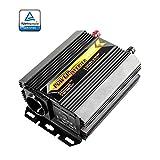 ZREAL Transformateur de tension à onde sinusoïdale modifiée 300W Convertisseur DC 12V AC 220V, Ports USB Dual 5V/2.1A Onde Sinusoïdale Power Inverter, Véhicule Onduleur Convertisseur