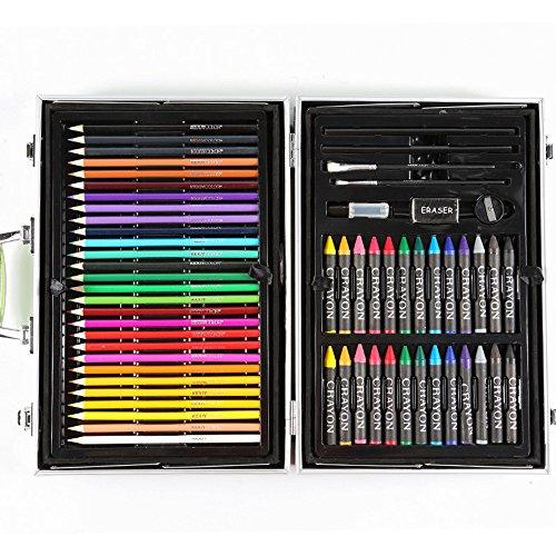 Liergou Aquarell Zeichnung Bleistiftsatz 133 Kinder aquarell Stift Set aquarell Stift zeichenstift Pinsel geschenkbox malerei schreibwaren Aluminium Box -