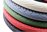 #4: Beige Tyre Design Soft Silicone Car Auto Steering Wheel Cover For New Maruti Wagon-R