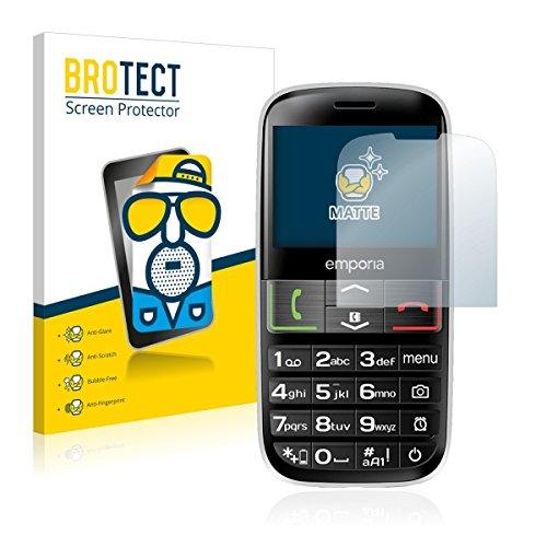 2X BROTECT Matt Bildschirmschutz Schutzfolie für Emporia Euphoria V50-3G (matt - entspiegelt, Kratzfest, schmutzabweisend)
