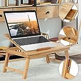 Miadomodo Table de lit pour Ordinateur portable55x 29x 35cm