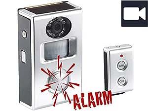 Système d'alarme solaire avec capteur PIR et enregistrement