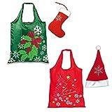 Faltbare Einkaufstasche Punta Weihnachten Mütze oder Stiefel Einkaufsbeutel Falt Tasche