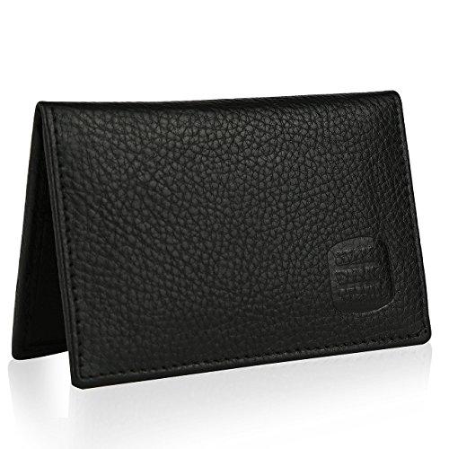 Suvelle Mens Thin RFID Blocking Slim Leather Card Holder Minimalist Front Pocket Wallet WR100 …