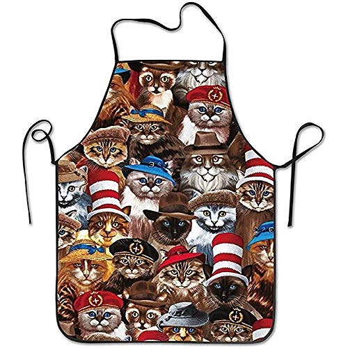 Kitchen Vintage Cats in Hats Chef Apron Cooking Apron Barbecue Vintage ()