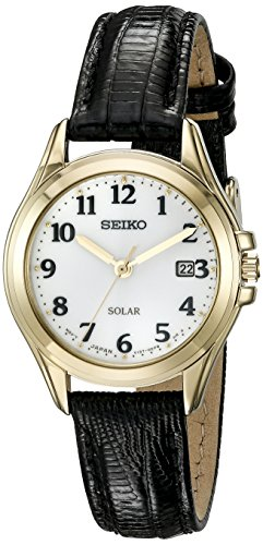 Seiko Women's SUT254 Solar Analog Display Japanese Quartz Black Watch
