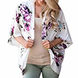 Doublehero Damen Sommer Freizeit Strandtop,Loral Cover Bluse Tops Lose Kimono Cardigan Capes Fitness Vest Casual Cute Mode Beiläufig Weste Lange Shirts Freizeit Tank Top