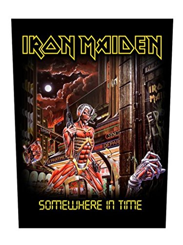 Dorso In gomma Iron Maiden some where In Time