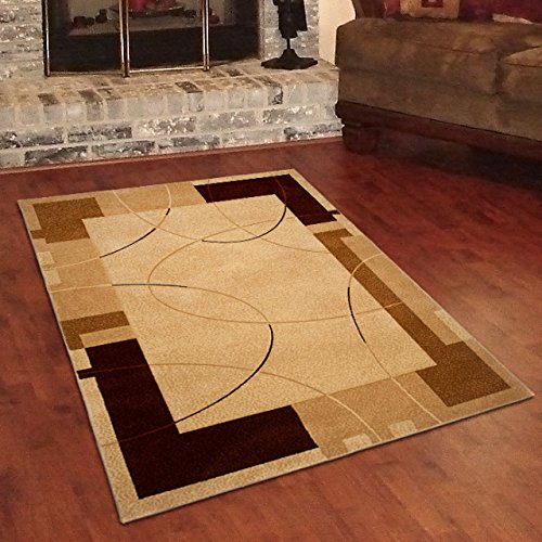 Traditional Rugs For Living Room ROMA Mosaic Pattern Cream Small Extra Large 60 x 100 cm