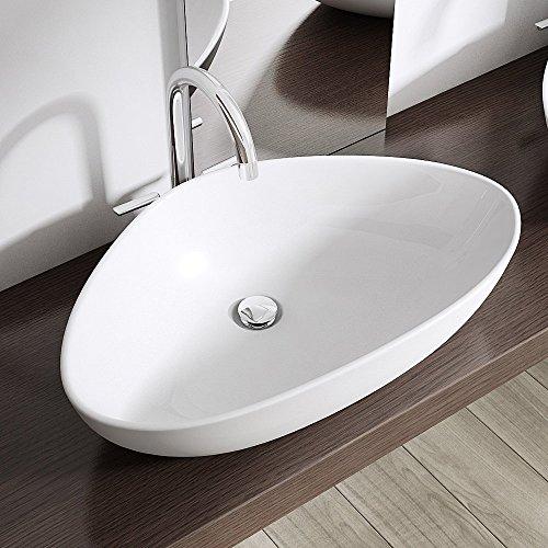NEG Waschbecken Uno75A Aufsatz-Waschschale//Aufsatzbecken//Eck-Waschtisch weiß
