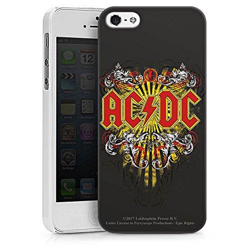 Apple iPhone 7 Plus Silikon Hülle Case Schutzhülle ACDC Danger Offizielles Lizenzprodukt Hard Case weiß