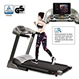 Fitifito keeps you in shape FT900 Profi Laufband 7PS 22km/h mit LCD Bildschirm, Dämpfungssystem, 5...
