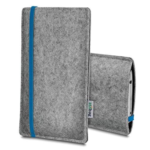 Stilbag Filztasche 'LEON' für Apple iPhone 6 - Farbe: gelb-hellgrau blau