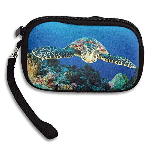 (Huge Sea Turtles Portable Washable Wristlets Bag Clutch Wallets, Change Purse,Coin Purse Zipper Small Wallets Pouch)