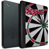 STUFF4 PU Leather Book/Cover Case for Apple iPad 2/3/4 tablets / Triple Bullseye Design / Darts Photo Collection