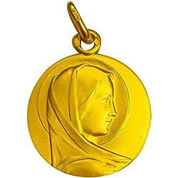 1000 médailles de baptême Médaille Vierge en Profil (plaqué Or)
