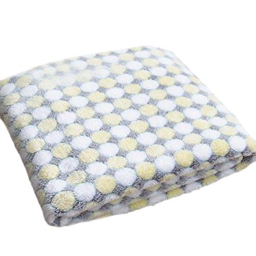 Wonque Haustier-Decken für Hunde, Dicke Katzen, Haustiere, Hundehütte, 1 Stück, Stoff, Beige Dots M, 80 * 60CM