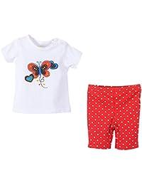 Jiajia Kids verano algodón camisetas + juego de pantalones de bebé trajes