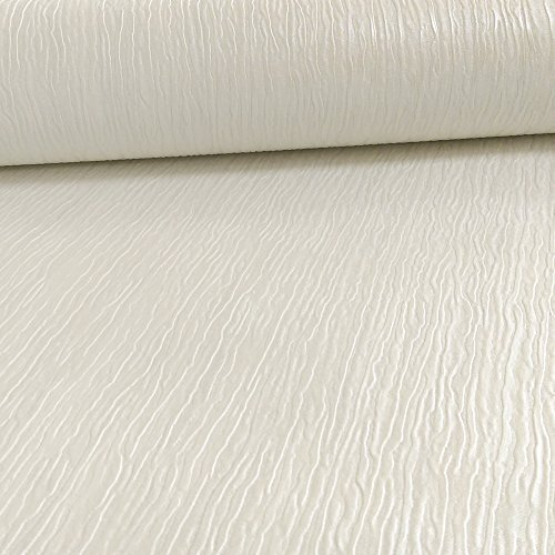 Arthouse Vintage Menoti Texturiert Streifenmuster Seide Effect Vinyl Tapete - Glanz Weiß 290801
