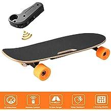 AIMADO Skateboards Electrico 200W+ Control Remoto Longboard Monopatín Patinete Completos para Niños Adolescentes Adultos,de Madera, Bateria Litio Cargador EU para Principantes o Profesionales 【EU STOCK】