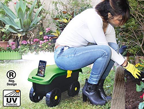 Sgabello da giardino in con ruote sgabello da giardino