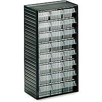 Treston 554-3 Kleinteilemagazin Serie 550 mit 24 Schubladen glasklar