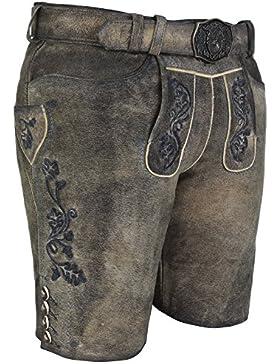 Michaelax-Fashion-Trade Spieth & Wensky - Herren Trachten Lederhose mit Gürtel, Deinhard (260125-0964)