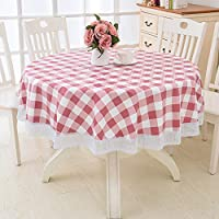 Aututer Fancy Round Tablecloth Rural PVC Plastic Kitchen Tablecloth Oil-resistant Decoration Elegant Waterproof Fabric Dining Table Cover