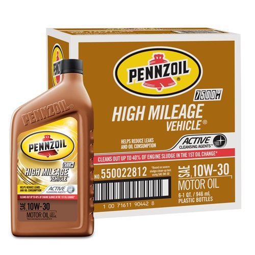 pennzoil-550022812-6pk-10w-30-high-mileage-vehicle-motor-oil-1-quart-by-pennzoil