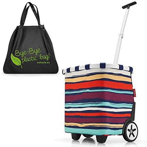 reisenthel - EXKLUSIVES ANGEBOT! carrycruiser + GRATIS mini maxi loftbag! Einkaufskorb Einkaufstasche Einkaufstrolley (artist stripes)