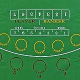Premier Poker Chips UK - Large Green Felt Baccarat Layout