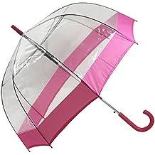 Paraguas transparente cúpula, rosa