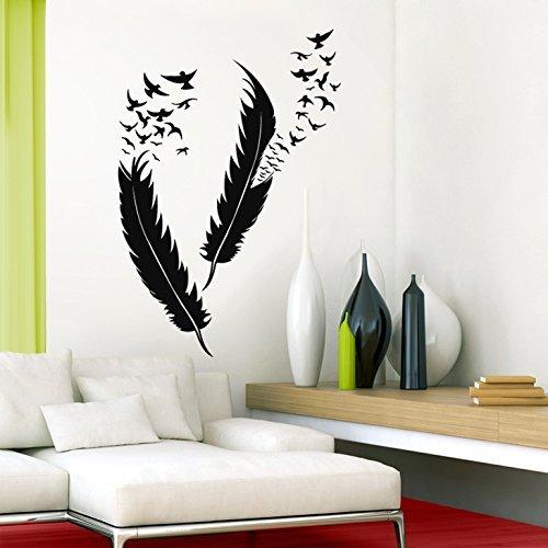 grandora-w5382-adesivo-murale-adesivo-parete-piume-con-uccelli-grigio-medio-m-set