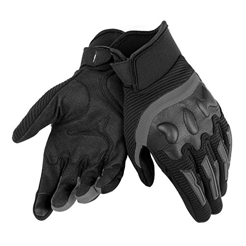 Dainese-AIR FRAME UNISEX Guantes, Negro/Negro, Talla S