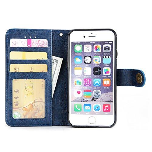 """Coque iPhone 6 Plus / 6S Plus (5,5 """"),iPhone 6 Plus / 6S Plus (5,5 """") Case,Sucastle Etui iPhone 6 Plus / 6S Plus (5,5 """") en Cuir, Coque Protection à Rabat,Garantie à vie, Housse Portefeuille pour iPho ZOLS6267"""