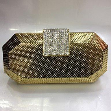 pwne Frauen Pu-Event/Party Hochzeit Abend Tasche Silber Schwarz Gold Champagne Gold