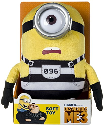 Minion Carl Jail Plush - Despicable Me 3 - 25cm 10""