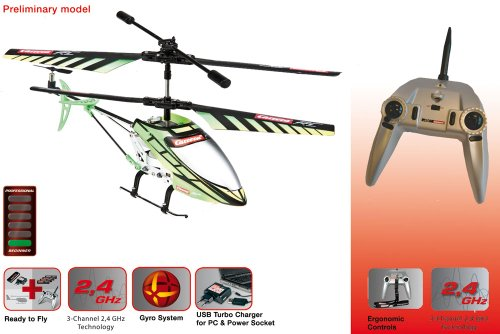 Carrera RC Helicopter Green Chopper - 5