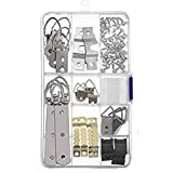 Photo Frame Hanging Hooks Kit,Picture Hanger Kit,Photo Frame Hanging Kit,with Screws,For Map Clock Poster Cross-stitch Carving Mirror,Category box