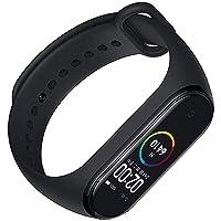 SBA999 M4-SB060 M4 Smart Fitness Band Activity Tracker Watch Heart Rate Sensor Silicon Digital OLED Bracelet Band Wrist Watch for All Kids, Boys/Men/Girls/Digital Watch (M4 Black)