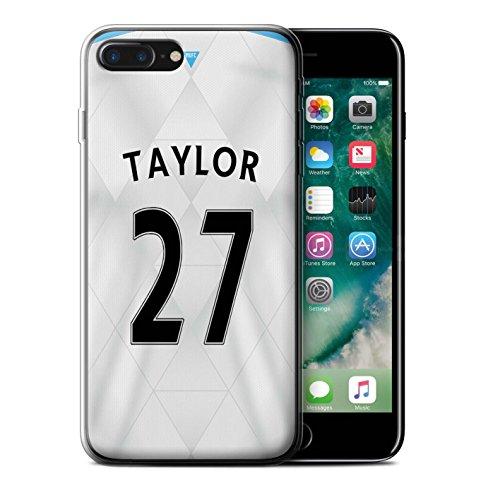 Offiziell Newcastle United FC Hülle / Gel TPU Case für Apple iPhone 7 Plus / Pack 29pcs Muster / NUFC Trikot Away 15/16 Kollektion Taylor