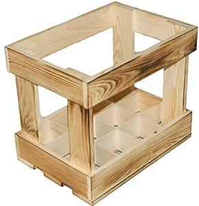 kistenkolli altes land caisse en bois compartiment e dimensions env 35 x 24 5 x 30 5 cm pour. Black Bedroom Furniture Sets. Home Design Ideas