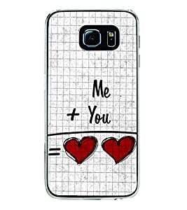 Me and You 2D Hard Polycarbonate Designer Back Case Cover for Samsung Galaxy S6 Edge :: Samsung Galaxy S6 Edge G925 :: Samsung Galaxy S6 Edge G925I G9250 G925A G925F G925FQ G925K G925L G925S G925T
