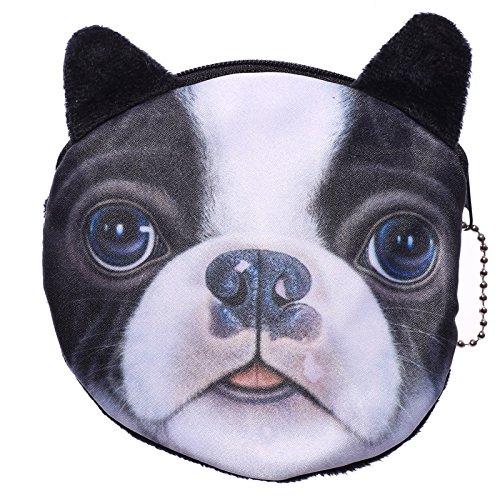 Boston Terrier Französische Bulldogge Mini Geldbörse Münzbörse (Ohren Französische Bulldogge)