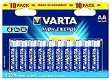 Mignon Baterías VARTA ''HIGH ENERGY'' 1,5V Tipo AA - Paquetes de 10 Pilas